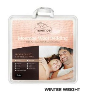 Moemoe K/Single Duvet Inner 100% Nz Wool 180X210Cm