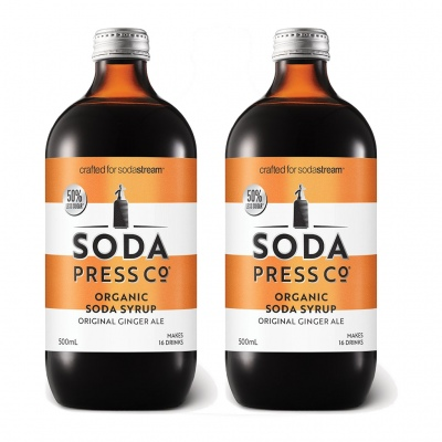 Soda Press Ginger Ale 500Ml Syrup Twin Pack