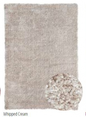 Hollyford Whipped Cream Chunky Shaggy Rug 1.6X2.3M