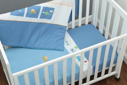 Mothers Choice 4Pc Cot Set Road Trip