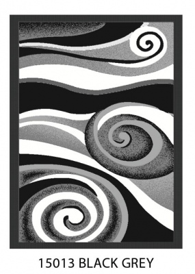 Urban Black Grey Seaswirl Rug 2.4X3.2 Bcf Ole