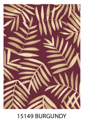 Pacifica Burgundy Fawn Leaves Rug 1.6X2.3 Bcf Olef