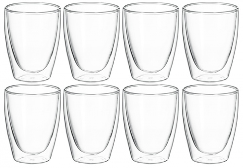 Avanti Caffe Twin Wall 250ML Glass Set OF 8