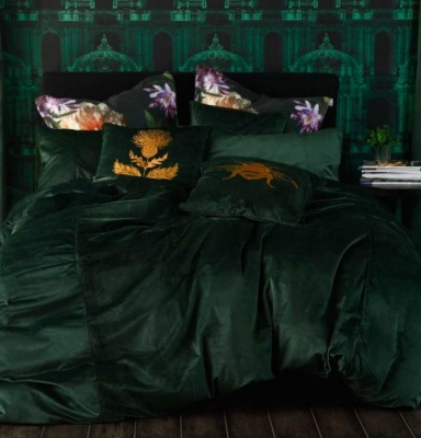 Faux Velvet Forest Super King Duvet Set