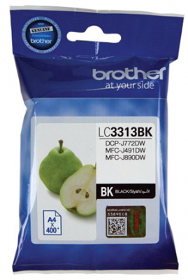 Brother Lc3313Bk Black Ink Cartridge High Yield