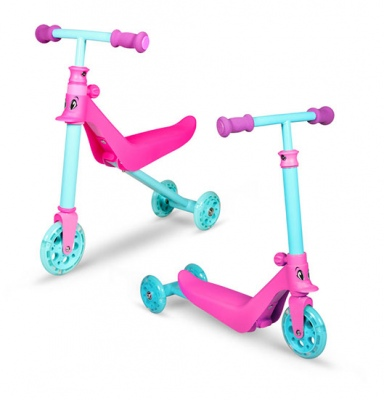 Zycom Zykster 2 In 1 Pink Teal Scooter