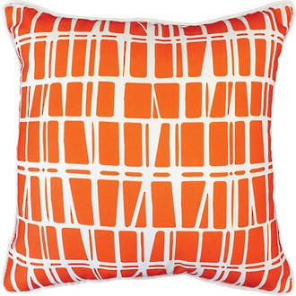 Lanai Orange Outdoor Cushion 45X45Cm Print