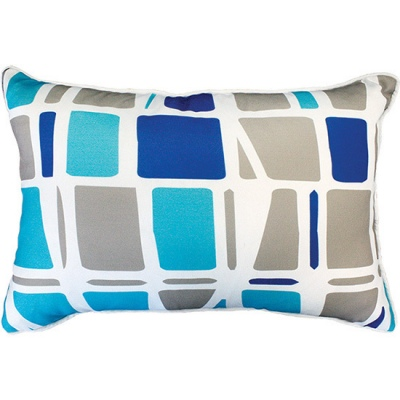 Hilo Blue Outdoor Cushion 35X50CM Print