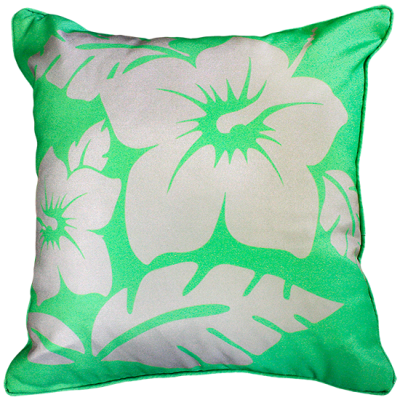 Hibiscus Green Outdoor Cushion 45X45CM Print
