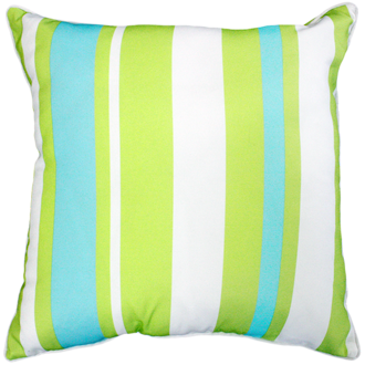 Hana Stripe Lime Outdoor Cushion 50X50CM