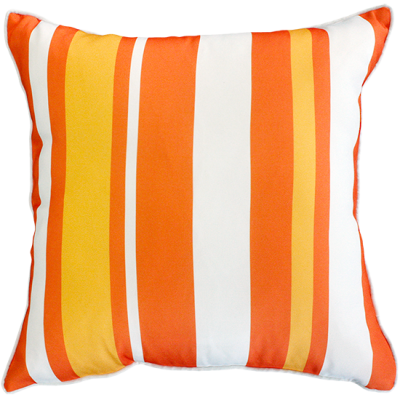 Hana Stripe Orange Outdoor Cushion 50X50Cm