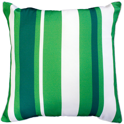 Hana Stripe Green Outdoor Cushion 50X50Cm