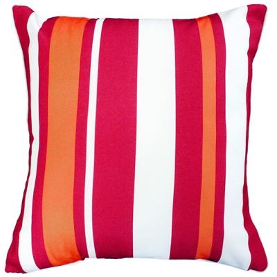 Hana Stripe Red Outdoor Cushion 50X50CM