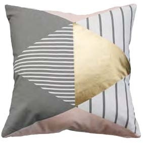 Allegro Cushion Grey/Pink/Gold 45X45Cm