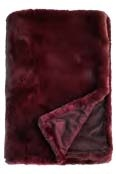 Pele Faux Fur Throw Bordeaux 125X150Cm