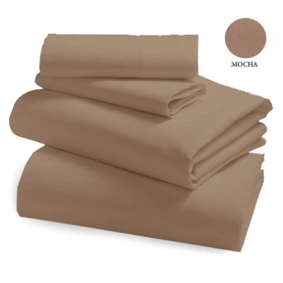L&M 250 Thread Cotton/Poly Mocha K/Single Sheet SE