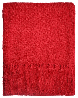 Boucle Yarn Acrylic Red 130X150CM