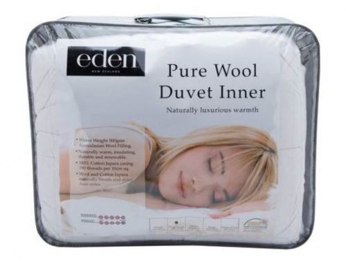 Eden 100% Pure Wool Super King 500Gsm Winter Duvet
