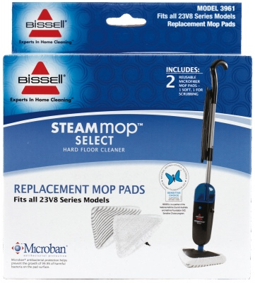 Bissell Steam Mop Select Replacement Pads X 2
