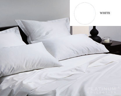 L&M 400 Thread Egyptian Cotton White K/Single Set