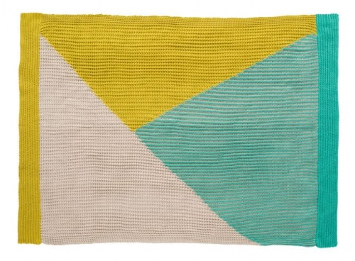 Kas Tanner Knitted Throw 130X170Cm Citrus