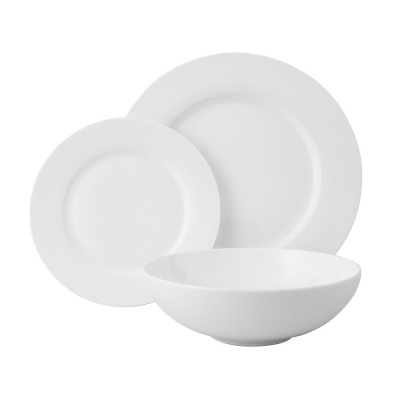 Wilkie Brothers Rim 12 Piece Dinner Set