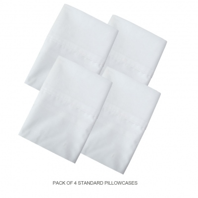 Cloud 9 White Std Size Pillowcases Set Of 4