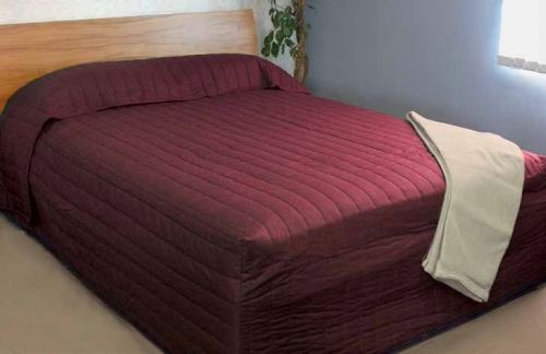 Marlborough Quilted Maroon Fitted Bedspread