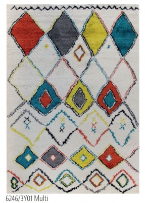 Royal Diamonds Multi Chunky Rug 1.6X2.3M