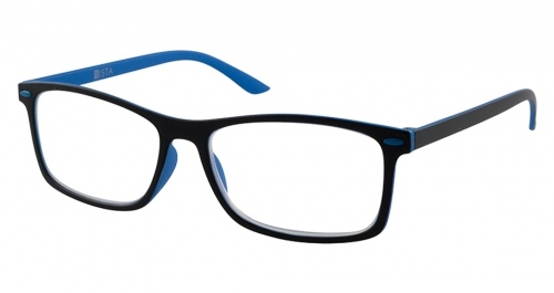 Vista Valery Black Blue Reading Glasses +1.00