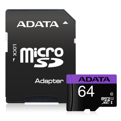 Adata Premier Micro Sd Uhs-I Card With Adaptor 64G
