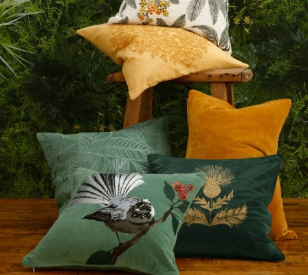 Natale Embroidered Cotton Velvet Cushion 50X50Cm