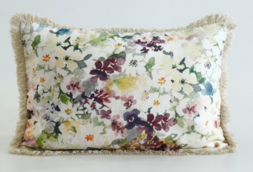 Wildflower Linen Cotton Long Cushion 60X40Cm