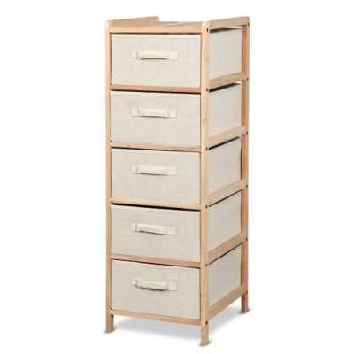 Malibu Storage Unit 5Dr 34.5X36.5X105Cm Flat Pack