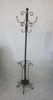 Burnt Copper Metal Coat Stand 1.83Cm