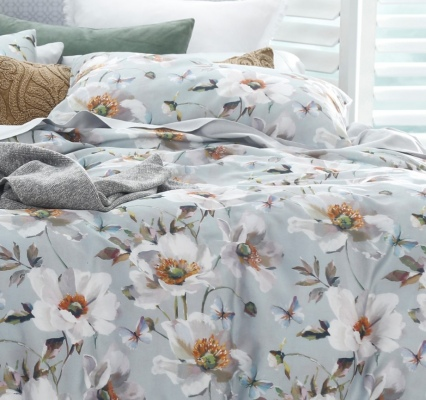 Poppy 300Tc Cotton Sateen Queen Duvet Set