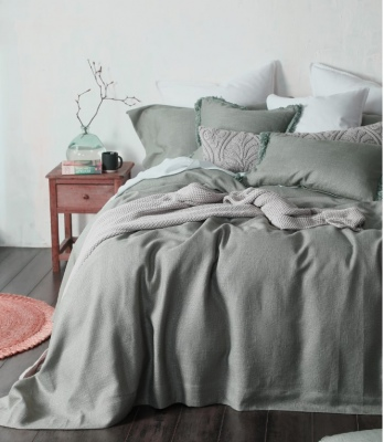 Crozet Sage Super King Bedspread Set