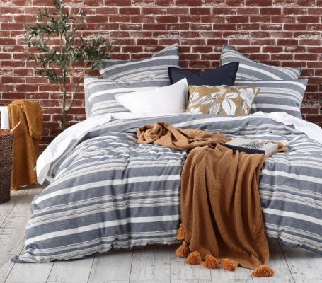 Matakana Woven Yarn Queen Duvet Cover Feb 21