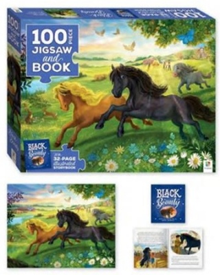 Black Beauty 100Pc Jigsaw With Picture Book