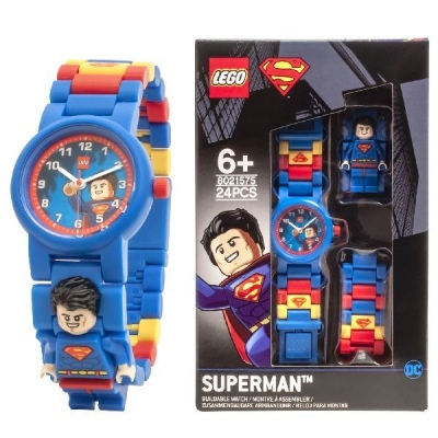 Lego Superman Watch Blue Red Analogue Age 6+