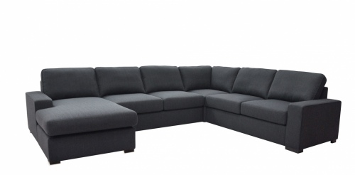 Crescent 3+Chs Cnr +2 +Sofabed Charcoal Fabric