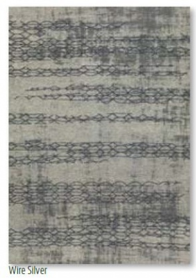 Opale Wire Silver Acrylic Chenille Rug 0.8X3.0M
