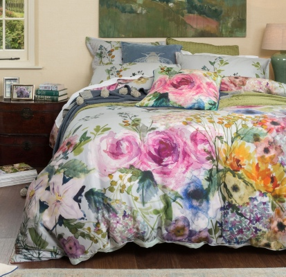 Elaria 300 Thread Ct Queen Duvet Cover Set