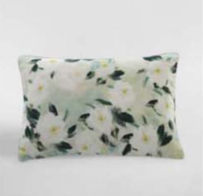Camellia Printed Linen/Cotton Cushion 60X40