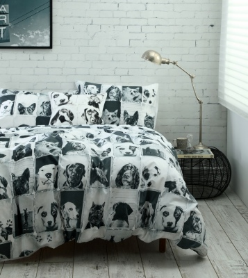Canine 300 Thread Ct King Single Duvet Cover Set