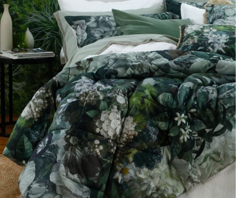 Florian King Quilted Cotton Sateen Comforter Set