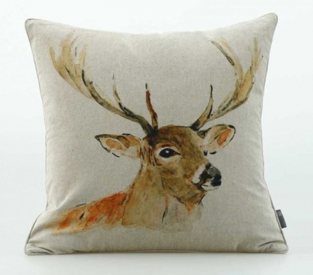 Stag Cotton Chambray Cushion 50X50