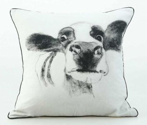 Moo Cotton Canvas Cushion 50X50