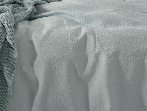 Nina 100% Cotton Matelasse Duckegg Queen Bedcover