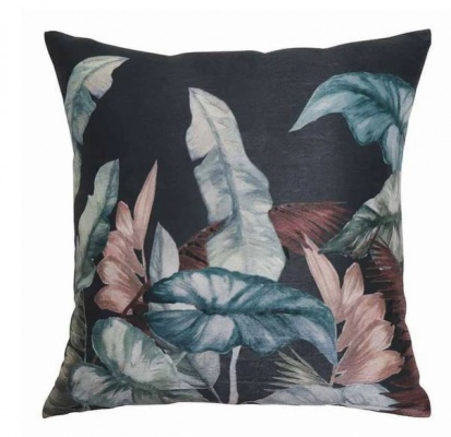 Amazonia Charcoal Teal Cushion 50Cm
